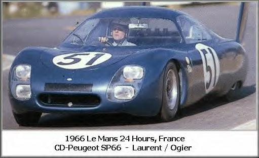 24h Le Mans 1966 CD SP66 JC.Ogier C.Laurent