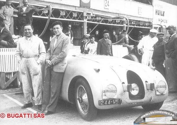 Victoire Bugatti aux 24h du Mans 1939