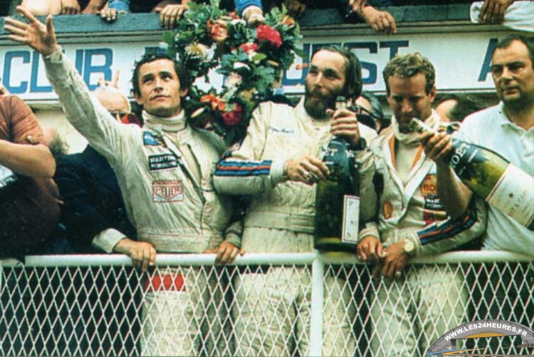 24h lemans 1977 podium ickx barth haywood