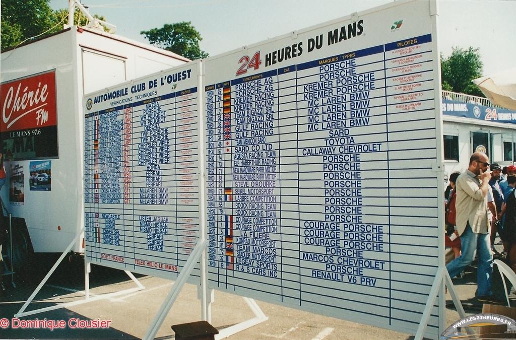 Pesage des 24 heures du Mans 1996