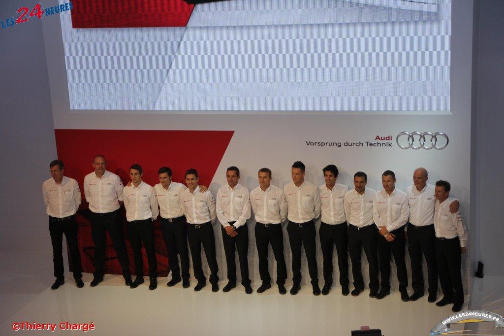 Conférence de presse Audi LM2014