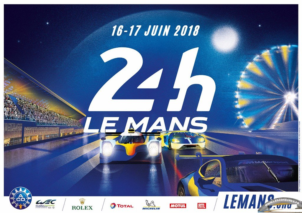 24h du mans 2018 pr sentation de l 39 affiche. Black Bedroom Furniture Sets. Home Design Ideas
