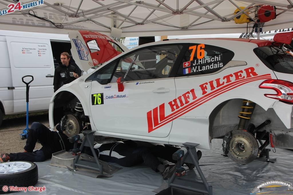 Jonathan Hirschi au Rallye de France 2014